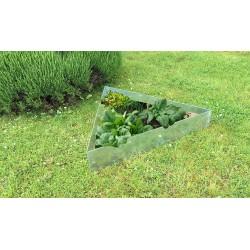 carré potager triangle acier galvanisé fleurs