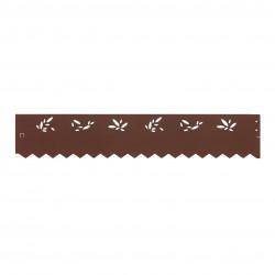 Bordure acier galvanisé aspect rouille perforé motif olive