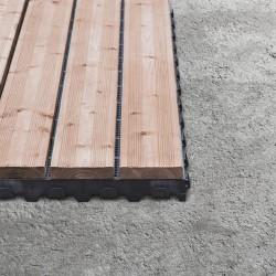 Dalle bois clipsable pose sur dalle béton