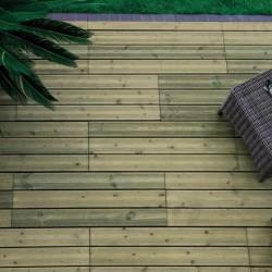 Terrasse bois clipsable pin autoclave