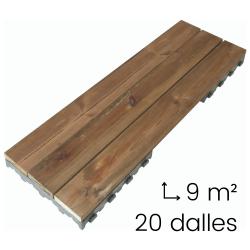 terrasse bois clipsable xtiles